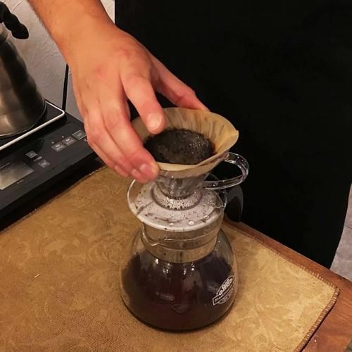 おすすめはハリオ式ドリップコーヒー抽出