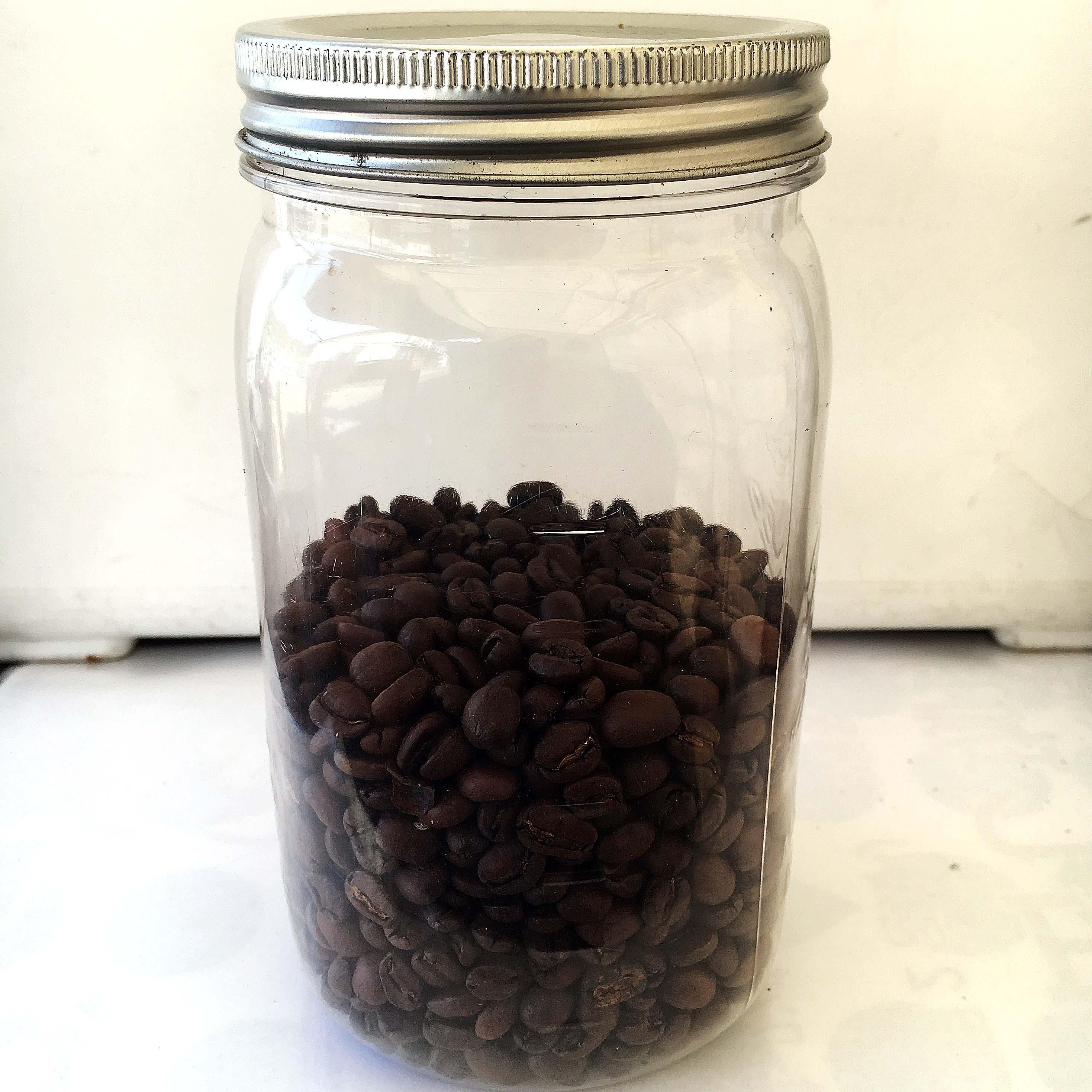 コーヒー豆の保存容器・ビン製キャニスター